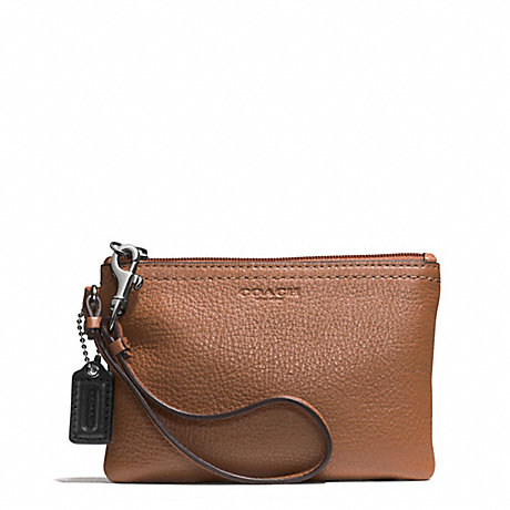 COACH PARK LEATHER SMALL WRISTLET - SILVER/SADDLE - f51763