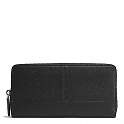 PARK LEATHER ACCORDION ZIP WALLET - f51764 - SILVER/BLACK