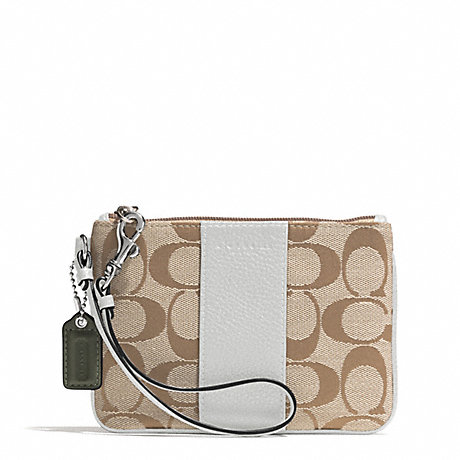 COACH PARK SIGNATURE SMALL WRISTLET - SILVER/LIGHT KHAKI/PARCHMENT - f51786