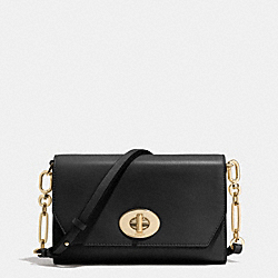 COACH MADISON CROSSTOWN CROSSBODY BAG IN LEATHER - LIGHT GOLD/BLACK - F51893