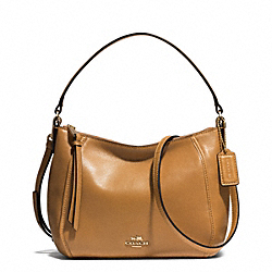 COACH MADISON TOP HANDLE IN LEATHER - LIGHT GOLD/BRINDLE - F51900