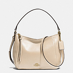 COACH MADISON TOP HANDLE IN LEATHER - LIGHT GOLD/MILK - F51900