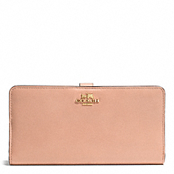 COACH SKINNY WALLET IN LEATHER - LIGHT GOLD/ROSE PETAL - F51936