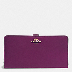 SKINNY WALLET IN LEATHER - LIGHT GOLD/PLUM - COACH F51936