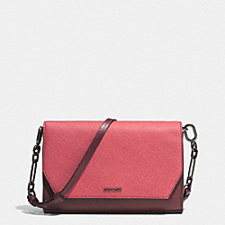 COACH SAFFIANO COLORBLOCK MIXED MATERIAL CROSSTOWN CROSSBODY - ARD1H - F51944