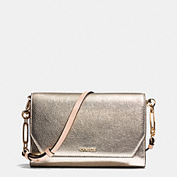 COACH SAFFIANO COLORBLOCK MIXED MATERIAL CROSSTOWN CROSSBODY - LIPLI - F51944