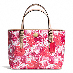 COACH PEYTON FLORAL PRINT TOP HANDLE TOTE - BRASS/PINK MULTICOLOR - F52086