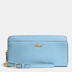 COACH DOUBLE ACCORDION ZIP WALLET IN LEATHER - LIPBU - F52103