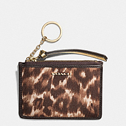 MADISON OCELOT PRINT MINI SKINNY - LIGHT GOLD/MULTICOLOR - COACH F52108