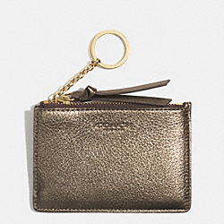 COACH BLEECKER METALLIC MINI SKINNY - GOLD/GOLD - F52110