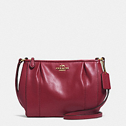 COACH COLETTE LEATHER SWINGPACK - IM/CRIMSON - F52177
