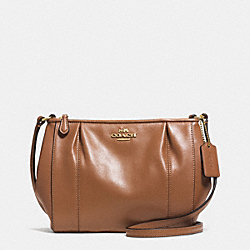 COACH COLETTE LEATHER SWINGPACK - IM/SADDLE - F52177