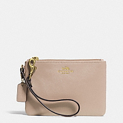 DARCY LEATHER SMALL WRISTLET - f52205 - BRASS/SAND