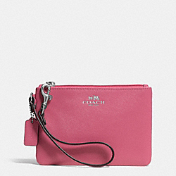 DARCY LEATHER SMALL WRISTLET - f52205 - SILVER/LIGHT PINK