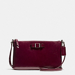 DARCY PATENT BOW EAST/WEST SWINGPACK - SILVER/SHERRY - COACH F52225