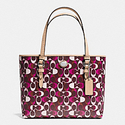 COACH PEYTON DREAM C PRINT TOP HANDLE TOTE - SVDDN - F52262
