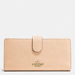 SKINNY WALLET IN EMBOSSED TEXTURED LEATHER - LIAPR - COACH F52326