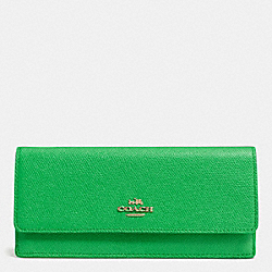 SOFT WALLET IN EMBOSSED TEXTURED LEATHER - LIGRN - COACH F52331