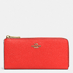COACH SLIM ZIP WALLET IN EMBOSSED TEXTURED LEATHER - LICRD - F52333