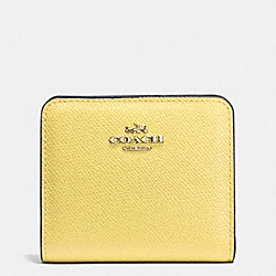 EMBOSSED SMALL WALLET IN LEATHER - LIGHT GOLD/PALE YELLOW - COACH F52339