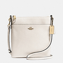 COACH COURIER CROSSBODY IN CROSSGRAIN LEATHER - LIGHT GOLD/CHALK - F52348