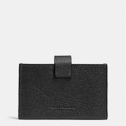 COACH ACCORDION BUSINESS CARD CASE IN EMBOSSED TEXTURED LEATHER - LIGHT GOLD/BLACK - F52373