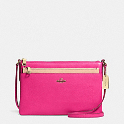 SWINGPACK WITH POP-UP POUCH IN EMBOSSED TEXTURED LEATHER - LIEDT - COACH F52377