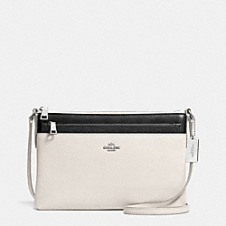 COACH SWINGPACK WITH POP-UP POUCH IN EMBOSSED TEXTURED LEATHER - SVDMH - F52377