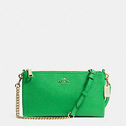 COACH KYLIE CROSSBODY IN EMBOSSED TEXTURED LEATHER - LIGRN - F52385