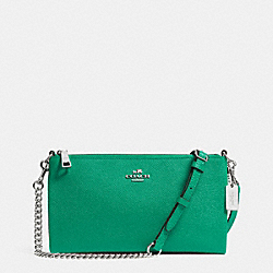 COACH HERALD CROSSBODY IN CROSSGRAIN LEATHER - SILVER/JADE - F52385