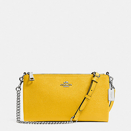 COACH HERALD CROSSBODY IN CROSSGRAIN LEATHER -  SILVER/YELLOW - f52385