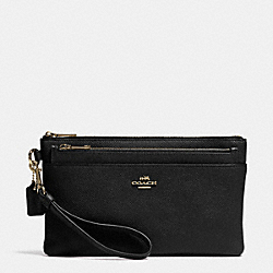LARGE WRISTLET WITH POP-UP POUCH IN EMBOSSED TEXTURED LEATHER - LIBLC - COACH F52468