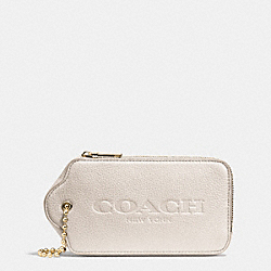 COACH HANGTAG MULTIFUNCTION CASE IN LEATHER - LIGHT GOLD/CHALK - F52507