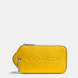 HANGTAG MULITIFUNCTION CASE IN LEATHER - SILVER/YELLOW - COACH F52507