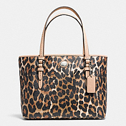 PEYTON OCELOT PRINT TOP HANDLE TOTE - SILVER/NATURAL MULTI - COACH F52533