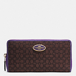 COACH ACCORDION ZIP WALLET IN SIGNATURE - LIDK7 - F52572