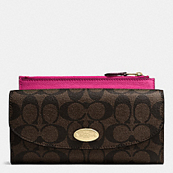 POP SLIM ENVELOPE WALLET IN SIGNATURE - IME9T - COACH F52601