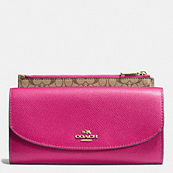 POP SLIM ENVELOPE IN CROSSGRAIN LEATHER - IMCBY - COACH F52628