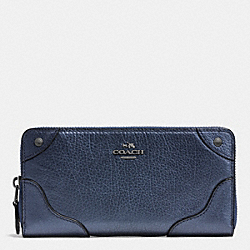 COACH MICKIE ACCORDION ZIP WALLET IN GRAIN LEATHER - ANTIQUE NICKEL/PEARLIZED DENLIGHT GOLD - F52645