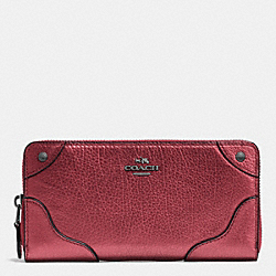 COACH MICKIE ACCORDION ZIP WALLET IN GRAIN LEATHER - QBE42 - F52645