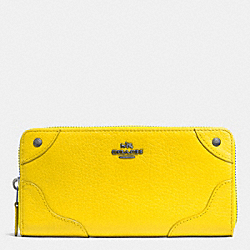 COACH MICKIE ACCORDION ZIP WALLET IN GRAIN LEATHER - QB/YELLOW - F52645