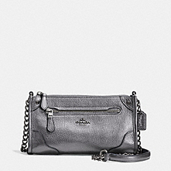 COACH MICKIE CROSSBODY IN GRAIN LEATHER - ANTIQUE NICKEL/SILVER - F52646