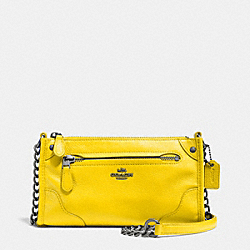 COACH MICKIE CROSSBODY IN GRAIN LEATHER - QB/YELLOW - F52646