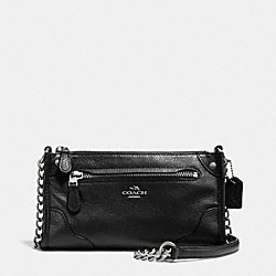 COACH MICKIE CROSSBODY IN GRAIN LEATHER - SILVER/BLACK - F52646