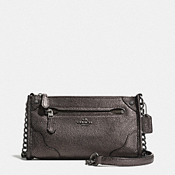 COACH MICKIE CROSSBODY IN PEARLIZED LEATHER - ANTIQUE NICKEL/GUNMETAL - F52668