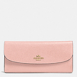 COACH SOFT WALLET IN LEATHER - IMITATION GOLD/PEACH ROSE - F52689