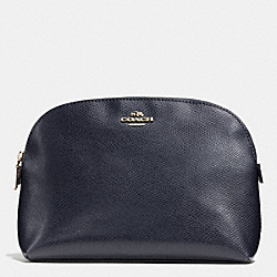 COSMETIC CASE IN LEATHER - LIGHT GOLD/MIDNIGHT - COACH F52697