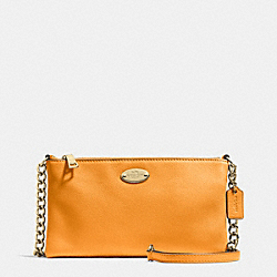 COACH QUINN CROSSBODY IN PEBBLE LEATHER - IMITATION GOLD/ORANGE PEEL - F52709