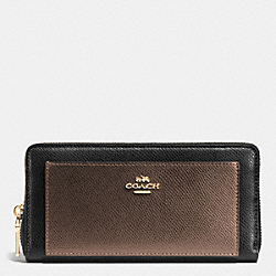 ACCORDION ZIP WALLET IN BICOLOR CROSSGRAIN LEATHER - IME8Y - COACH F52756