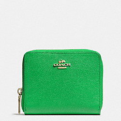 COACH MEDIUM CONTINENTAL WALLET IN CROSSGRAIN LEATHER - LIGRN - F52766